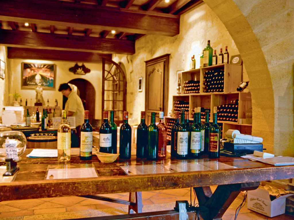 Saint-Émilion tasting rooms, often located in stone cellars, are a mix of traditional design and trendy interiors. Photo by: Greg Elms/Lonely Planet Images/Getty Images