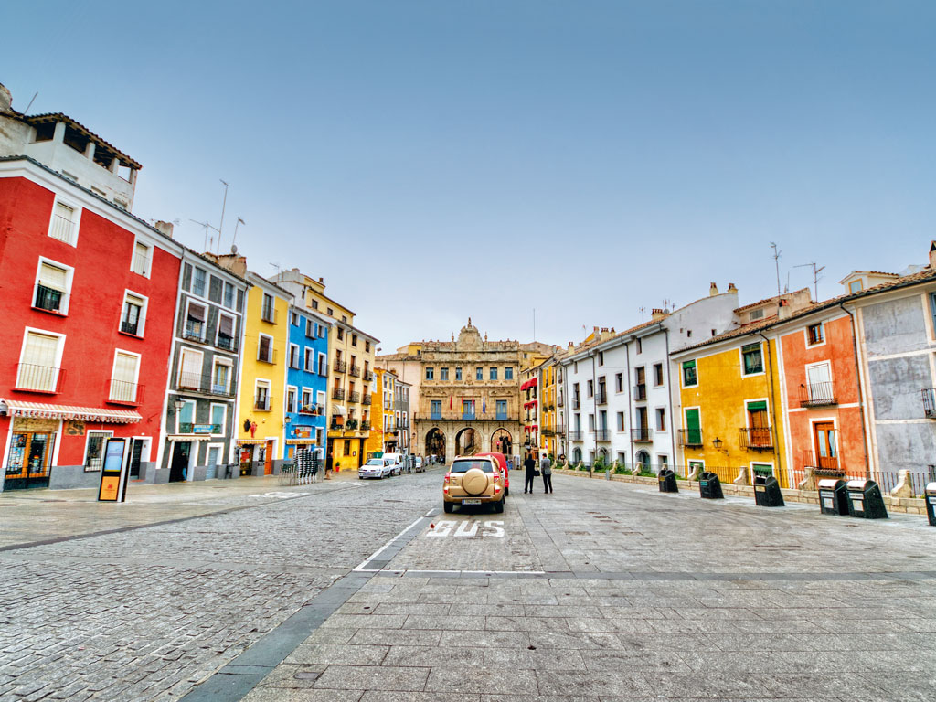 The walled town of Cuenca is a World Heritage Site, and has been at the heart of the country's abstract movement. Photo by: Ventura Carmona/Getty Images