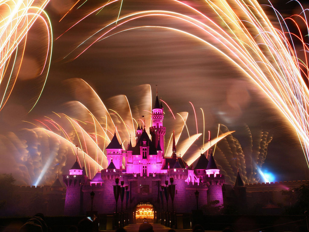 hong Kong Disneyland alight with fireworks. Photo by AFP/AFP/Getty Images.
