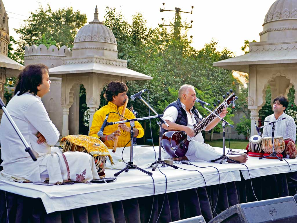 Sitar maestro Ustad Shujaat Khan was amongst those who played at the fest. Photo by: ArtKonnect