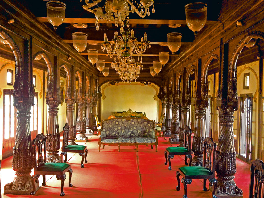 The Dasra Chowk at Phaltan Rajwada was the informal meeting room where the royal family would greet their guests. Photo by: Prachi Joshi