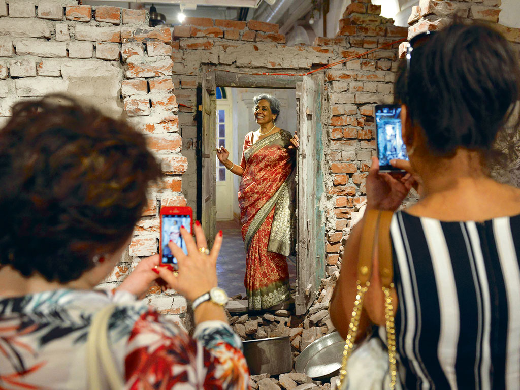 Display of wall debris in the museum evoke post-Partition violence. Photo by: Narinder Nanu/contributor/afp/Getty Images