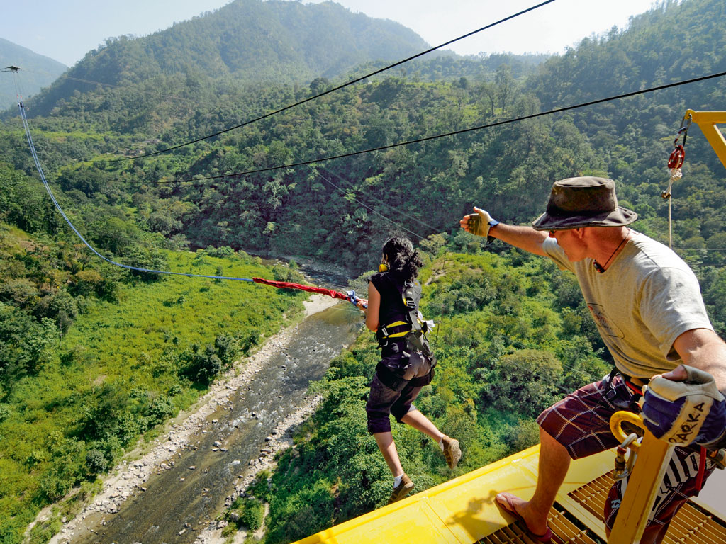 Experts from New Zealand guide you through your fall at Jumpin Heights. Photo courtesy: Jumpin Heights