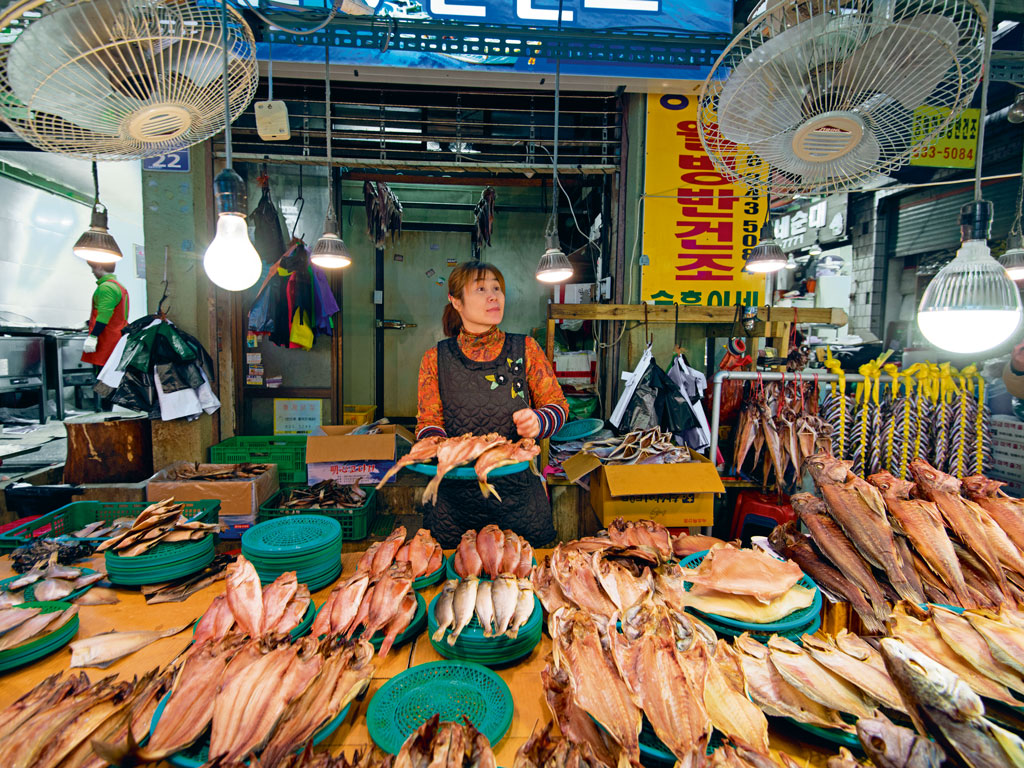 Sokcho Tourist and Fishery Market. Photo by Chung Sung-Jun / Staff/Getty Images Sport/Getty Images.