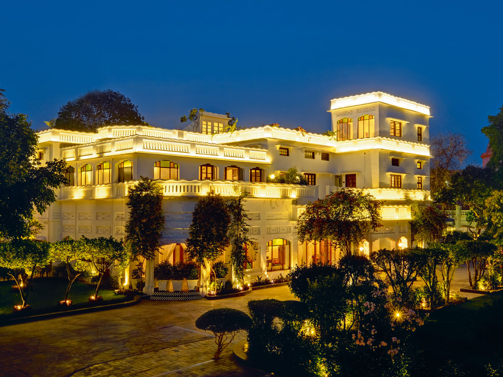 Lebua Lucknow's art deco facade is beautifully lit up every night. Photo courtesy: lebua Lucknow