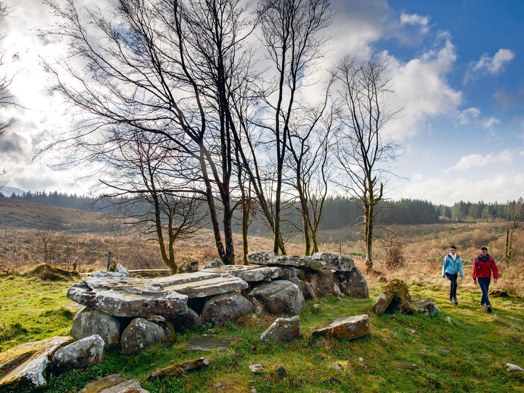 This megalithic wedge tomb at Cavan Burren Park is known as the Giant's Grave. Lag, the giant who died while trying to impress his lady love, is said to be buried here. Photo by: Tourism Ireland