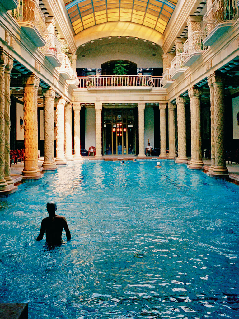 The Gellért Thermal Bath is housed inside the art nouveau Hotel Gellért. Photo by: Cultura RM Exclusive/Philip Lee Harvey/Cultura Exclusive/Getty Images