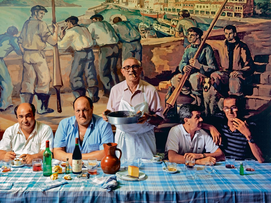 Members of a 'Gastronomic Society,' in San Sebastian. Photo by: George Wright/perspectives/Getty Images