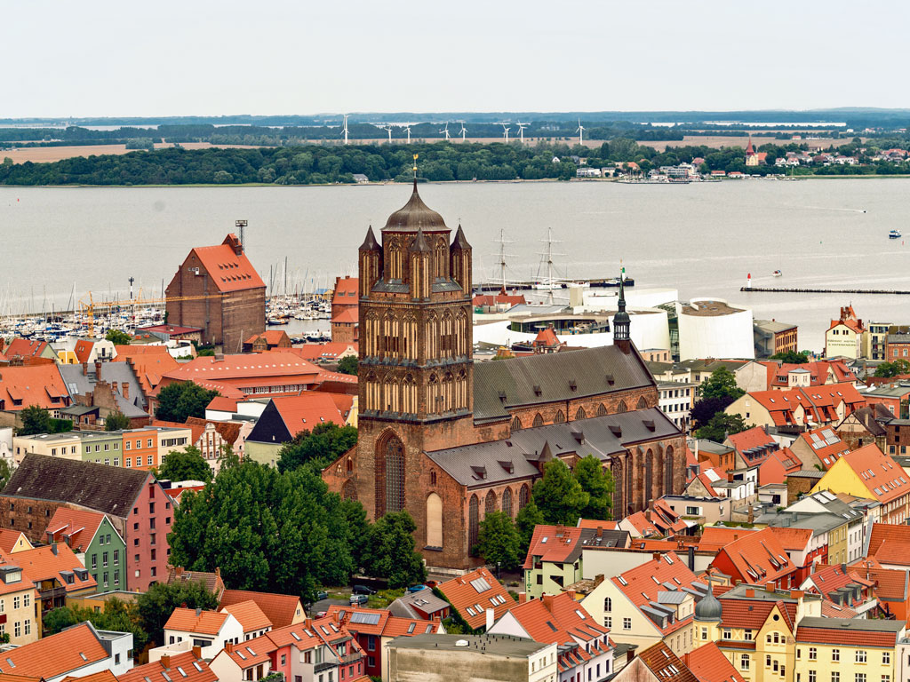 The Hanseatic town of Stralsund. Photo by: Westend61/Getty Images