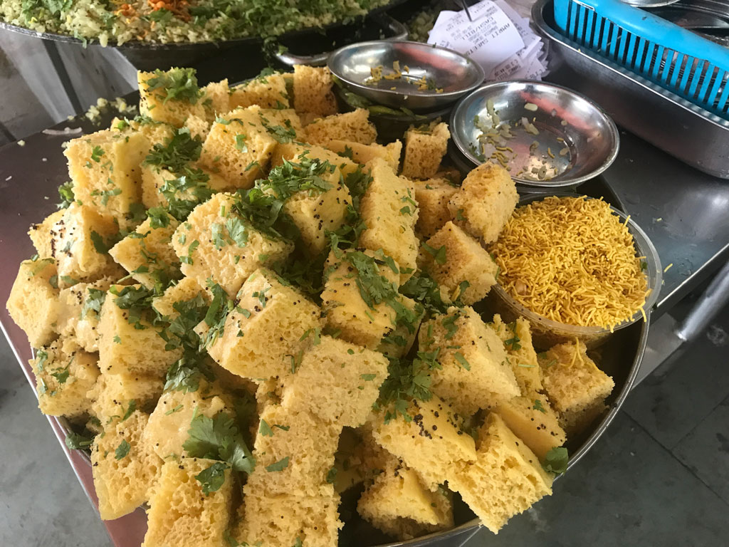 The Gujarati staple khaman or dhokla has made inroads into western MP.
