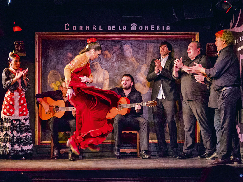 Flamenco in Madrid is a way of life, a cultural heritage of the artistes' Romani or gypsy ancestry, and the show at Corral de la Morería is the finest. Photo Courtesy: Madrid Destino Cultura Turismo Y Negocio, S.A. available at www.esmadrid.com