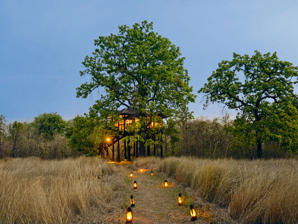 Pench Tree Lodge, spread over 40 acres, has six tree houses and six cottages suitable for larger groups. Photo courtesy: Pugdundee Safaris