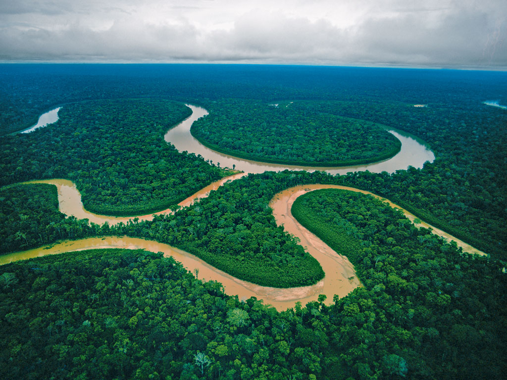 Almost 22 per cent of the oxygen on the planet is believed to be generated in the Amazon. The rainforest, which covers 60 per cent of Peru's total area, is a place of astonishing biodiversity and indigenous cultures. Photo by: Loren McIntyre/Stock Connection/Dinodia Photo Library