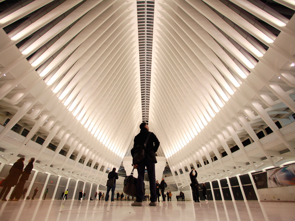 In the making for 12 years, the $4 billion Oculus train station opened to the public in 2016 and has become one of New York's selfie magnets. Photo by Gary Hershorn/Contributor/Corbis news/Getty Images.