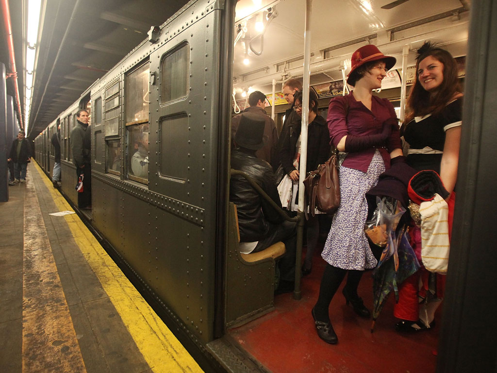 The New York subway is a hotspot for art and culture in the city. There are buskers on every station, graffiti and art on the walls and there is even a Holiday Nostalgia train line with eight vintage New York subway cars from several different eras that run for a few weekends each year. Photo by Mario Tama/Staff/Getty Images News/Getty Images.