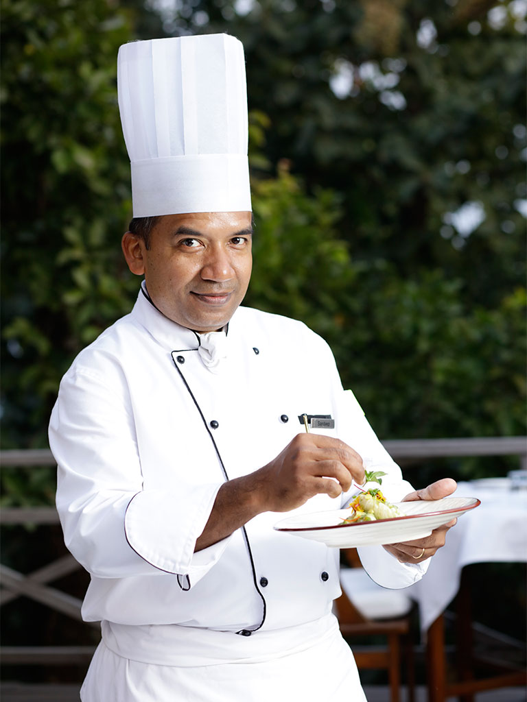 Chef Sandeep Biswas, along with a team of dieticians, studies every guest's dietary requirements before rustling up healthy, balanced meals. Photo Courtesy: Ananda in the Himalayas