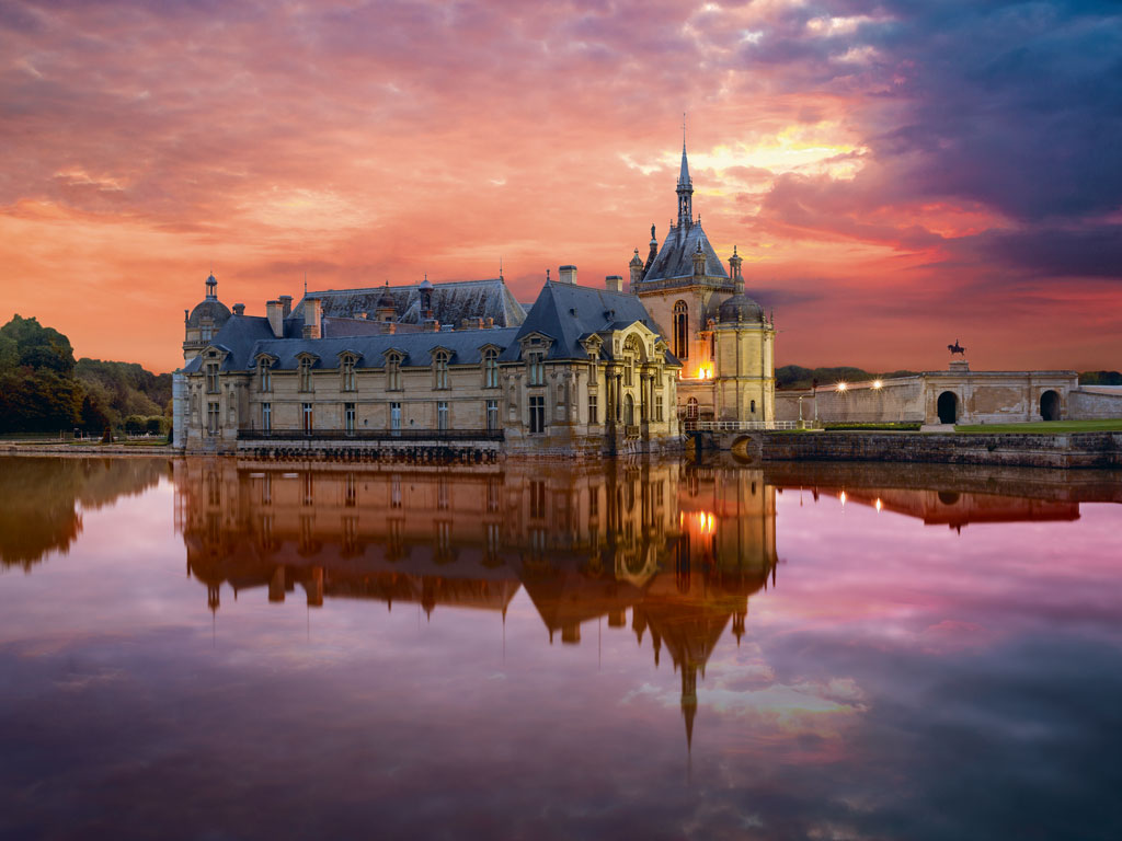 Chateau de Chantilly is renowned for its Great Stables, where performers put on costumed shows for visitors. Photo by: PEC Photo/Getty Images