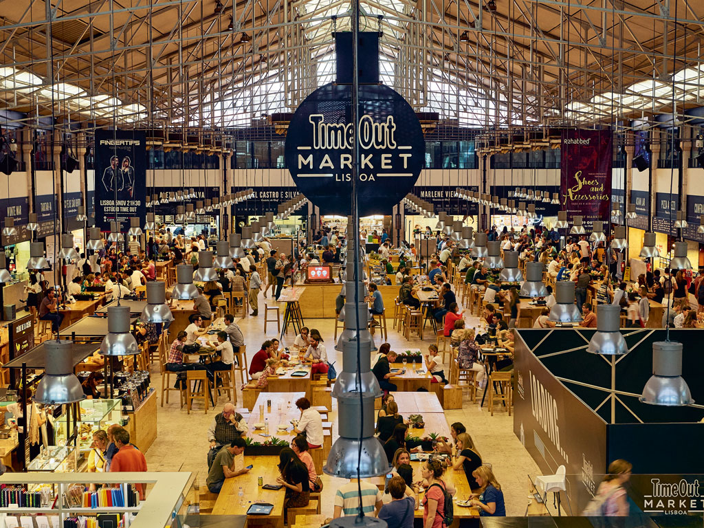 Opened in 2014, Time Out market (left) brings the city's best food under one roof. Photo by Andrea Pistolesi/Getty images