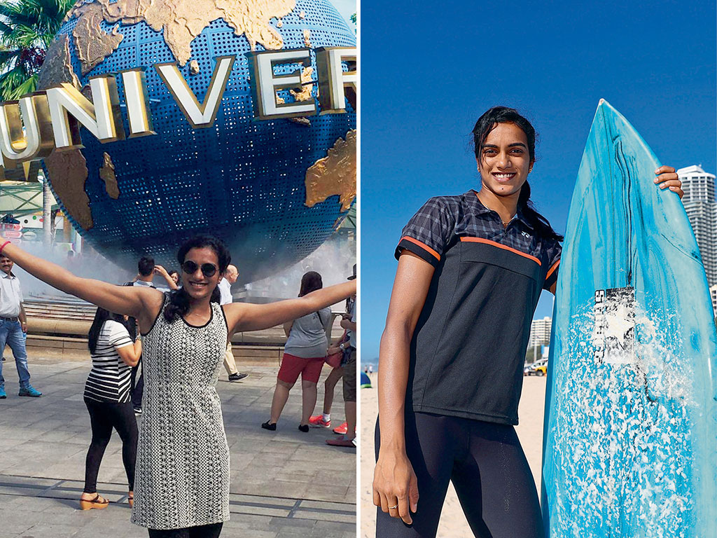 Some of Sindhu's best travel memories are trips to Singapore (Left) and Australia (Right). Photo Courtesy: P.V. Sindhu (Singapore); Chris Hyde/Stringer/Gettyimages (Australia)