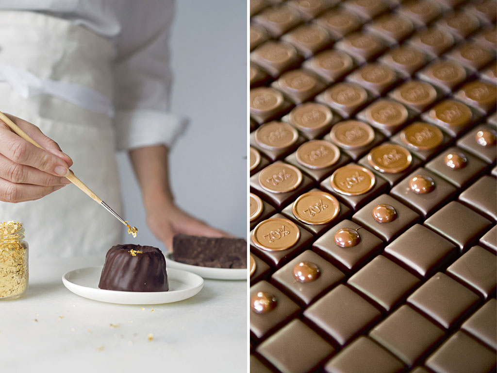 Opened in 2009, Max Chocolatier uses local ingredients to create their unique handmade treats. Photo courtesy: Max Chocolatier (chocolate cake), Lee Jakob (chocolates)