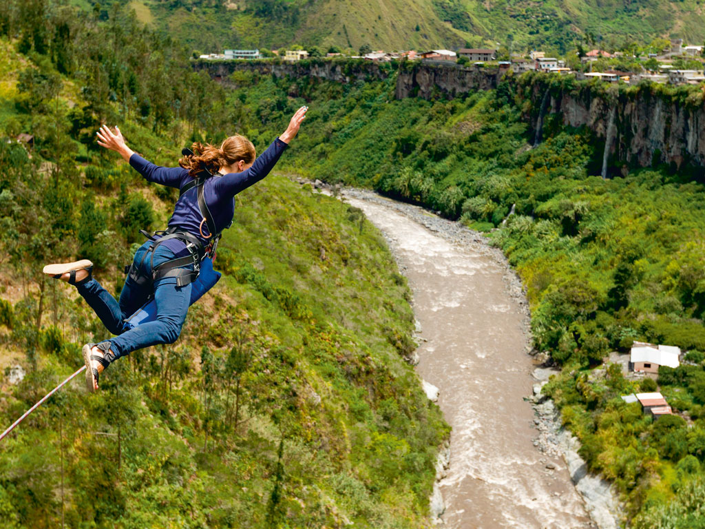 Jumping Off the World's First Bungee Spot in New Zealand