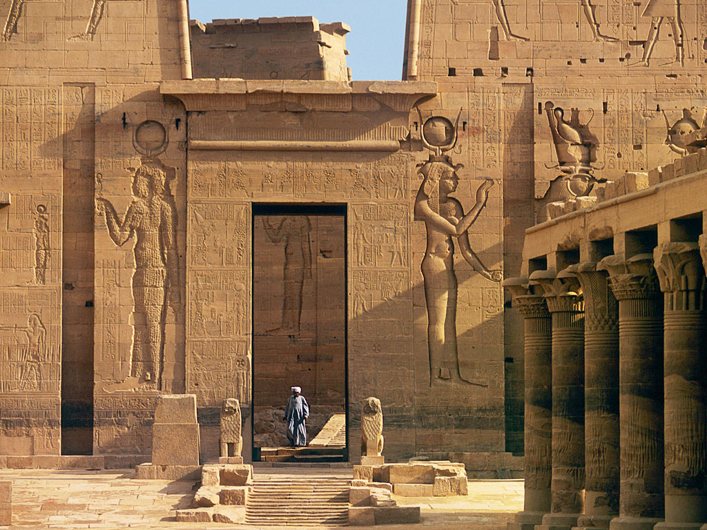 The Temple of Philae was moved from its original riverbank location during the construction of the Aswan dam. Photo by: Antonio RIBEIRO/Gamma-Rapho/Getty Images