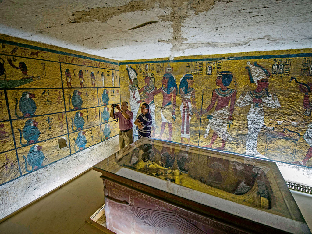 Despite his short rule, Tut Ankh Amun (Tutankhamun) is Egypt's most well-known pharaoh. His tomb was found almost intact and filled with treasure. Photo by: KHALED DESOUKI/AFP/Getty Images