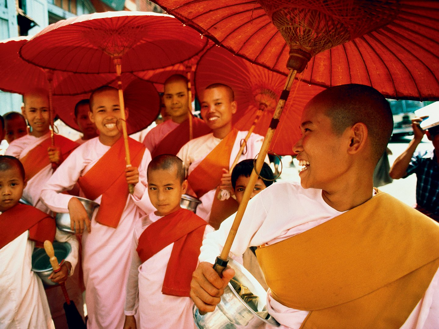 Female monks in Rangoon