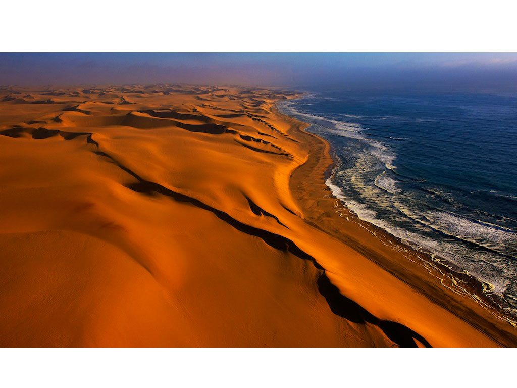 Where the Namib meets the Atlantic. It's called The Long Wall. Photo: Dhritiman Mukherjee