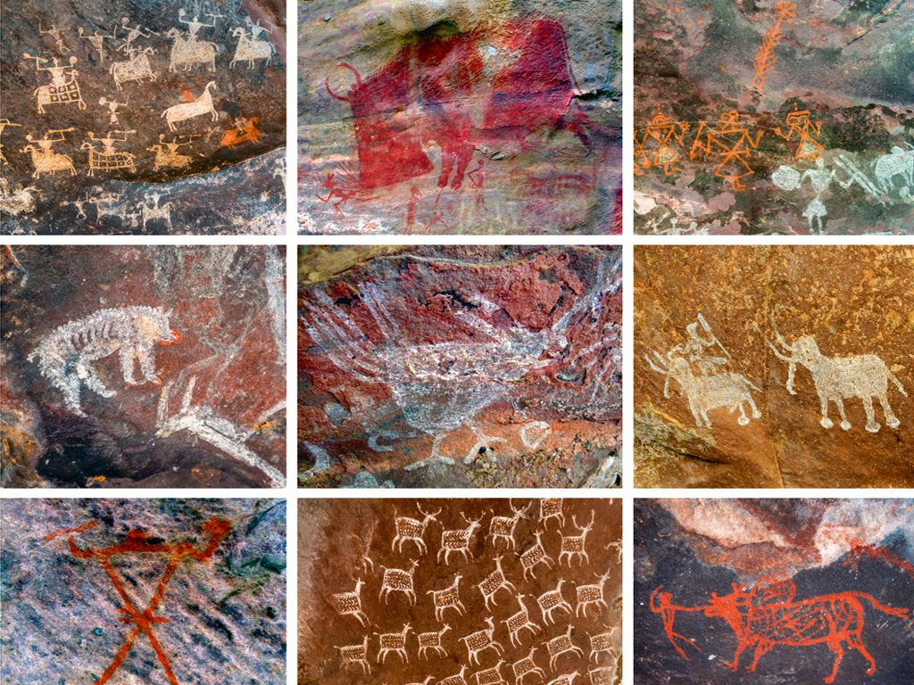 Bhimbetka's cave paintings Madhya Pradesh Ancient wall art