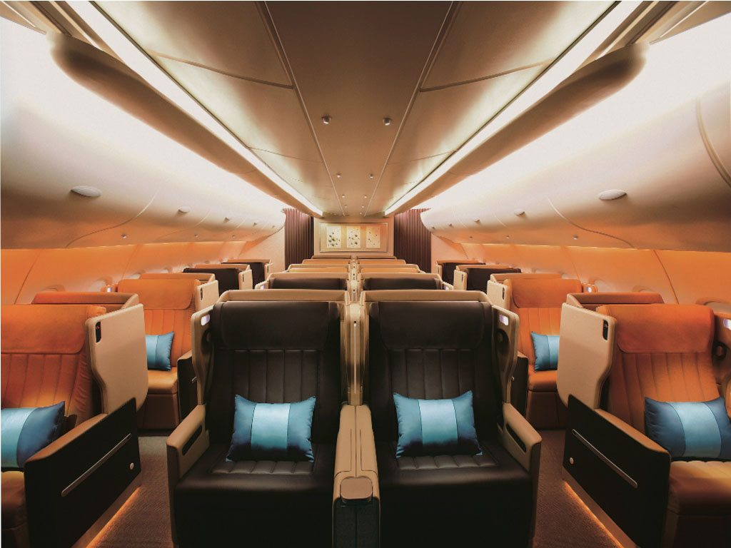 Business class Airbus Singapore Airlines