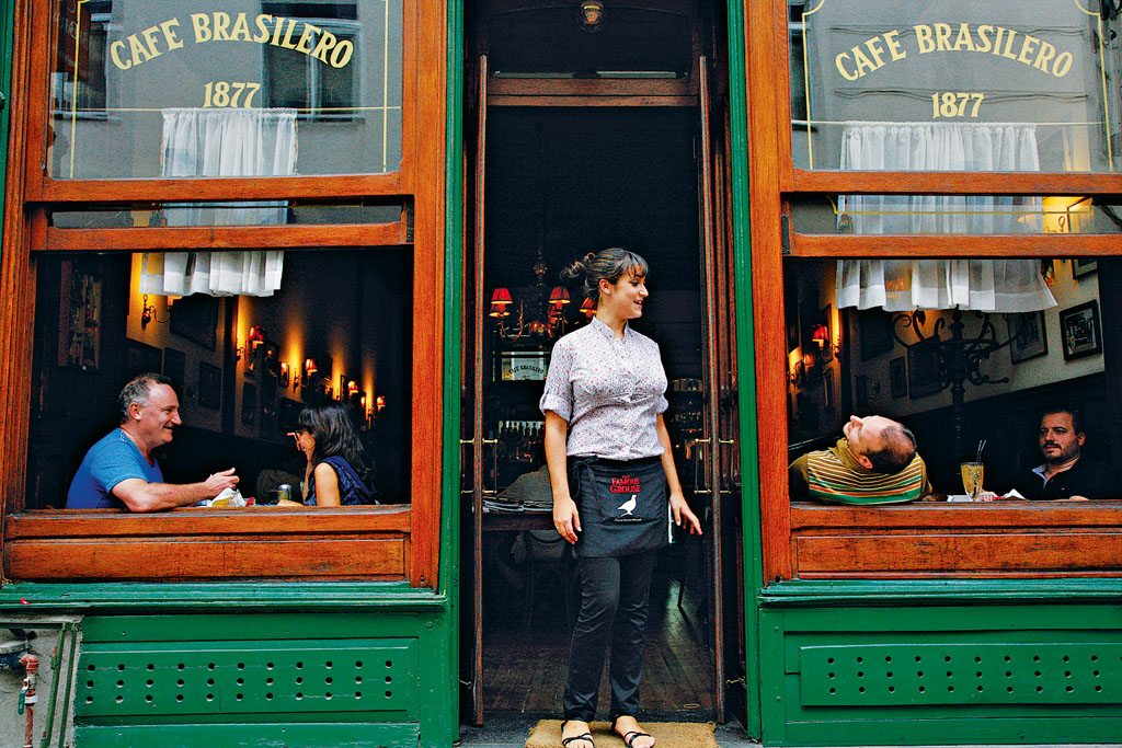 Café Brasilero, founded in 1877 in Montevideo's Old Town, is a perfect spot for a cortado, or espresso with milk. Photo: Yadid Levy/Anzenberger/Redux