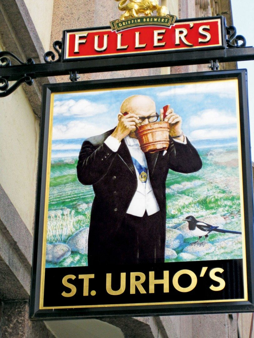 Despite the long winter, Finns are known to enjoy their beer. Here a pub in Helsinki, named after the iconic former president Urho Kekkonen, has elevated him to a patron saint of beer drinkers. Photo: Zac O'Yeah