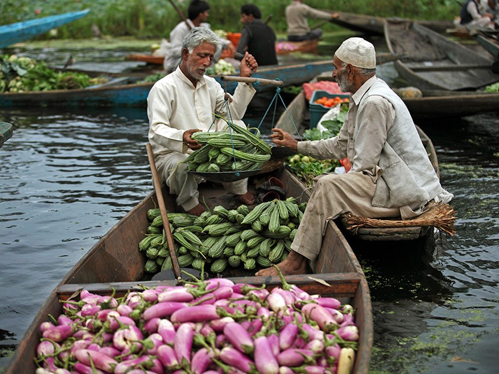 Vendors selling their Products at the floating market