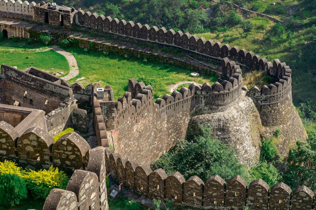 The ramparts enclose Kartargarh, a fort within the fort, and medieval monuments. Photo: Guiziou Franck/Hemis/Corbis/Imagelibrary