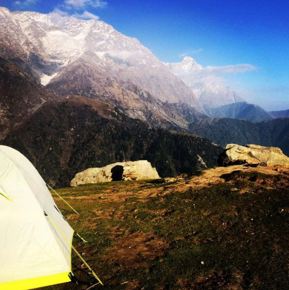 Pitch a tent with the family in the midst of the gorgeous Himalayas. Photo: Neha Sumitran
