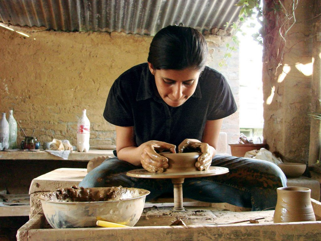 Spend your days bent over a potter's wheel in Andretta. Photo: Yamini Dhall