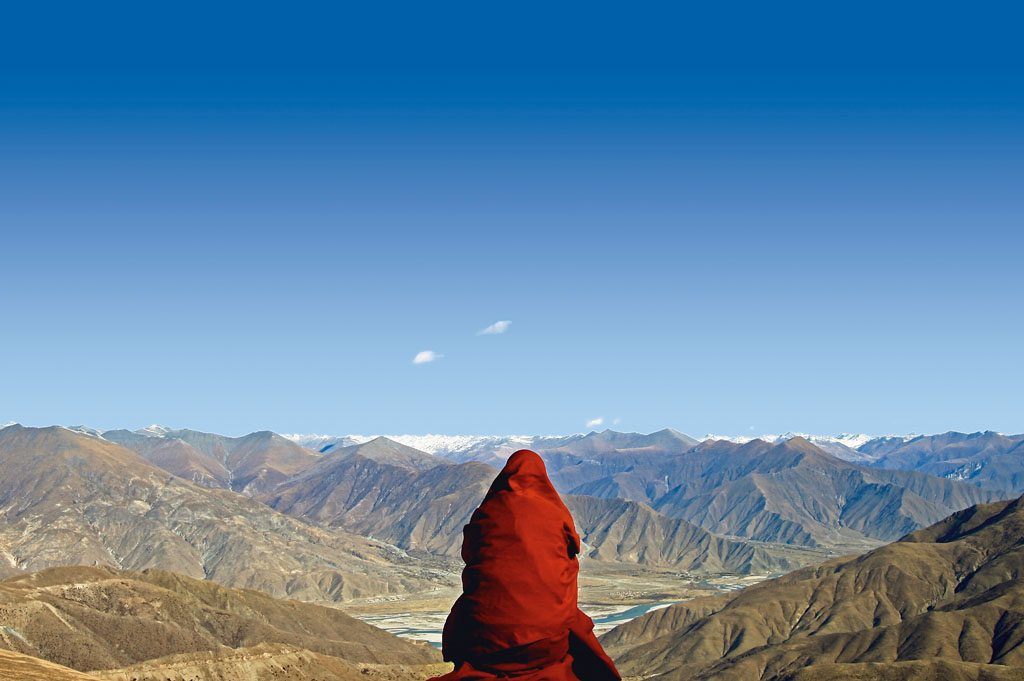 Mount Everest View Monk buddhist