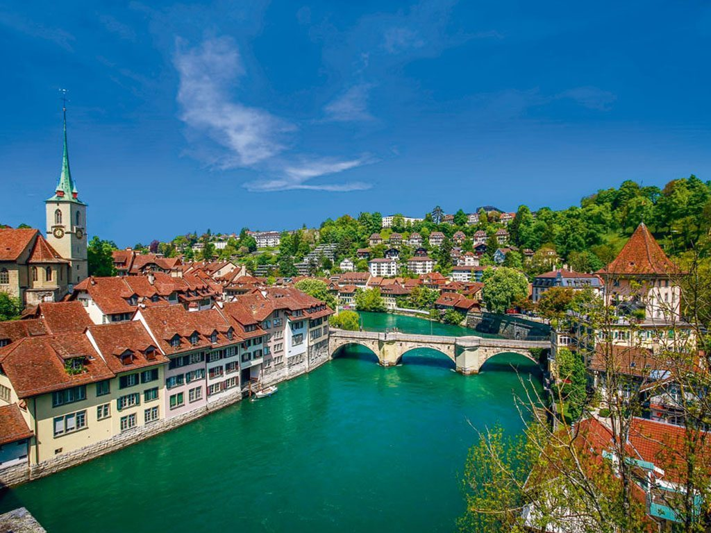 A view of the houses in bern