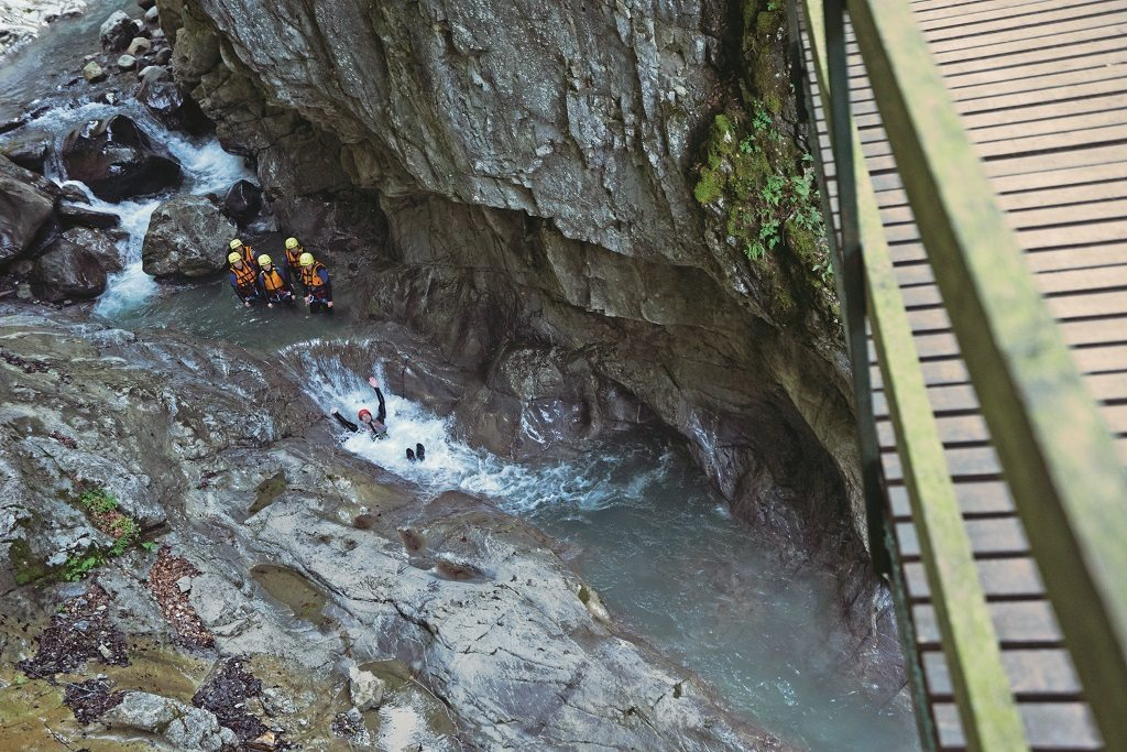 canyoning down the river