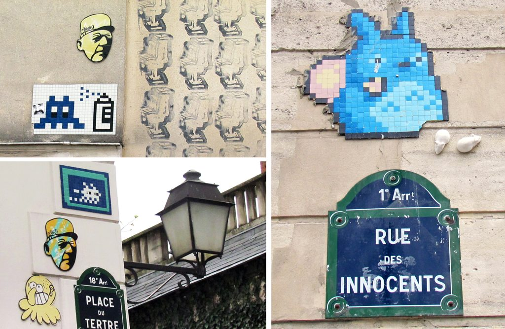 Space Invaders graffiti France