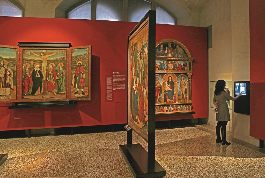 Religious triptychs adorn the walls of Zurich's Swiss National Museum. Photo: Chirodeep Chaudhuri