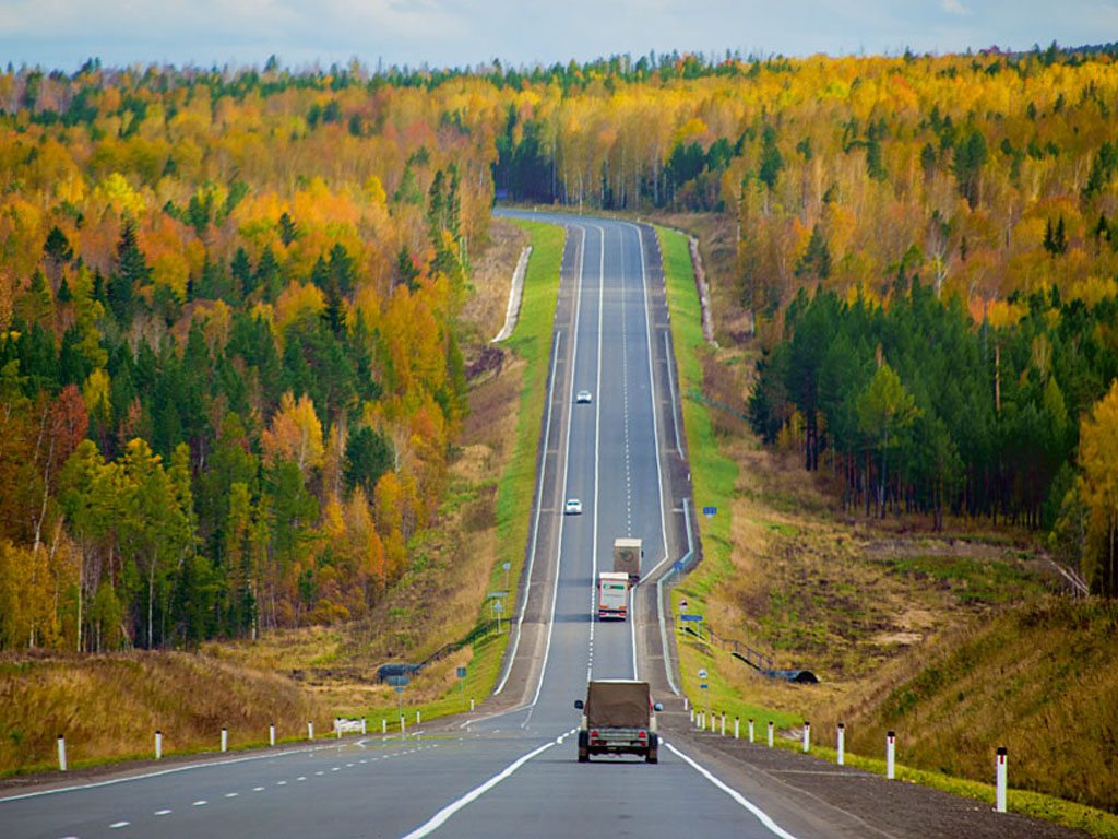 a view of thr roads in siberia