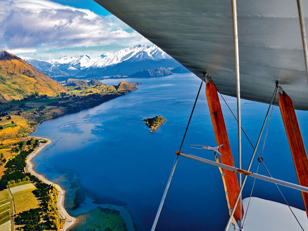 Lake Wanaka Tiger Moth New Zealand