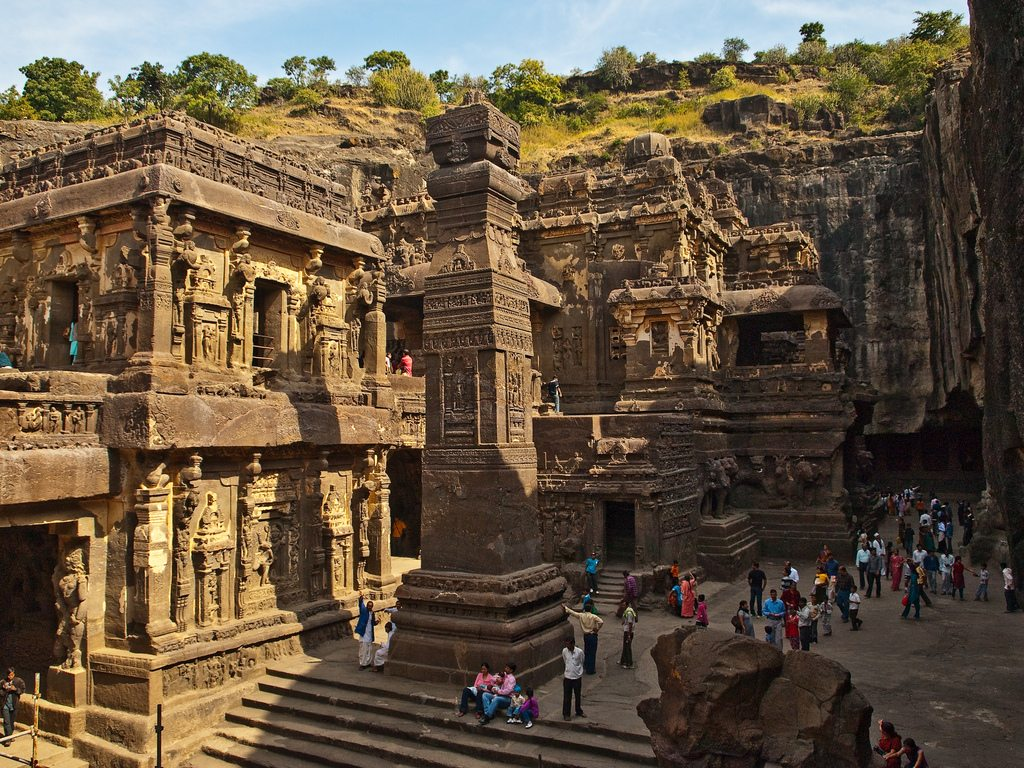 Some archeologists say that the region around the Ajanta and Ellora caves has been inhabited for the last 20,000 years. Ancient tools found in the area support these theories. Photo: Kunal Mukherjee/Flickr/Creative Commons (http://bit.ly/1jxQJMa)
