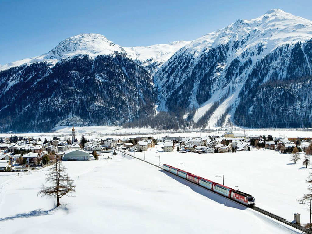 Oberalp Pass Switzerland Glacier Express