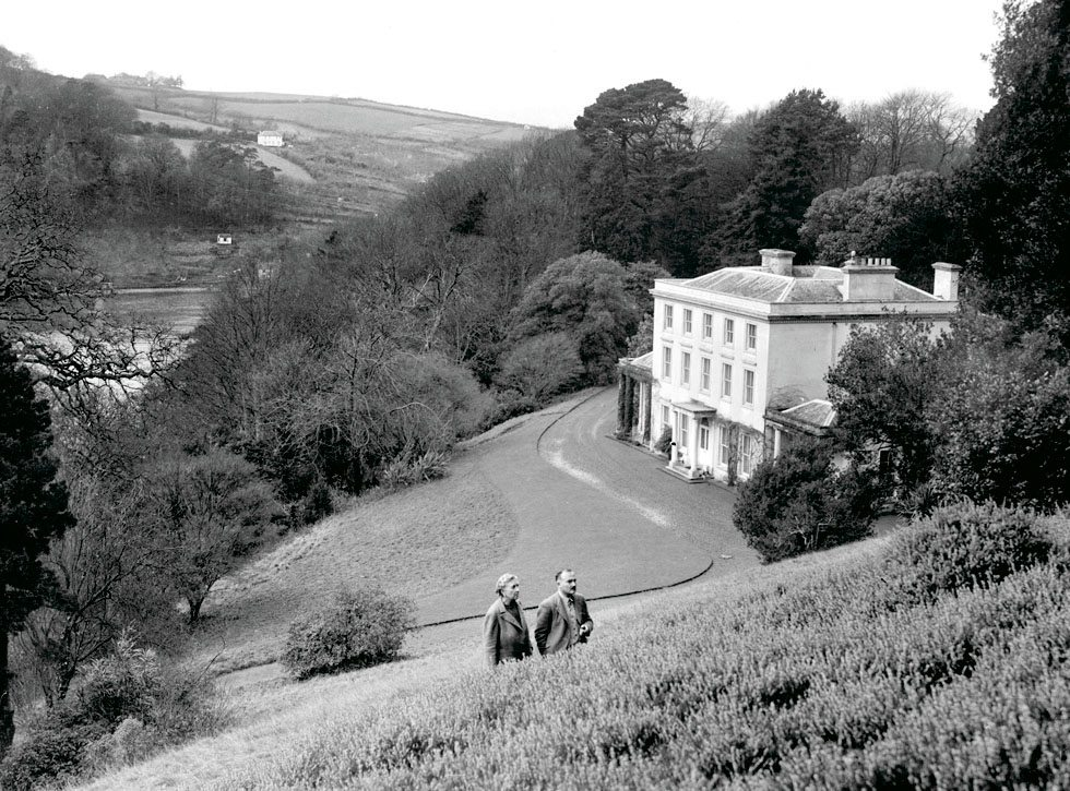 agatha christie at greenway estate with her husband