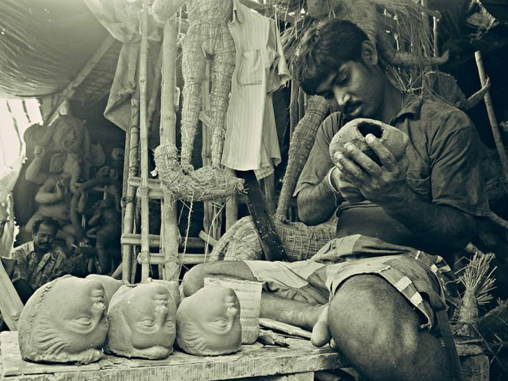 artist in Kolkata, photo by Mangalika Ghosh