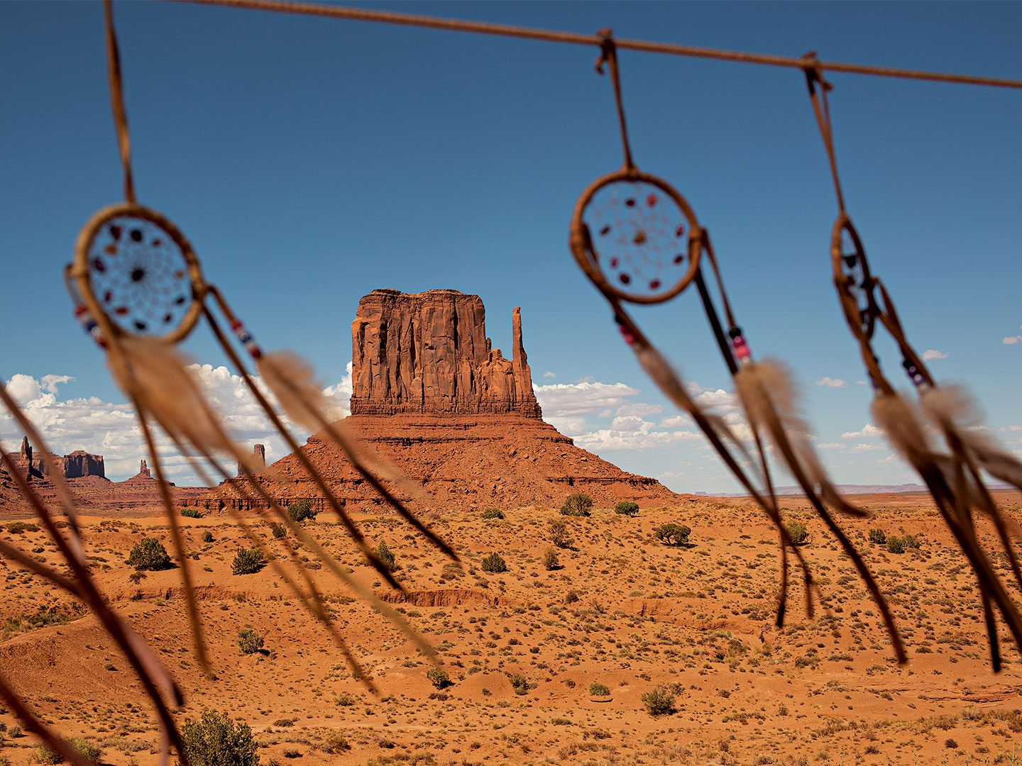 Dream catchers  remind visitors that Utah's Monument Valley is on Navajo land. Photo: Aaron Huey