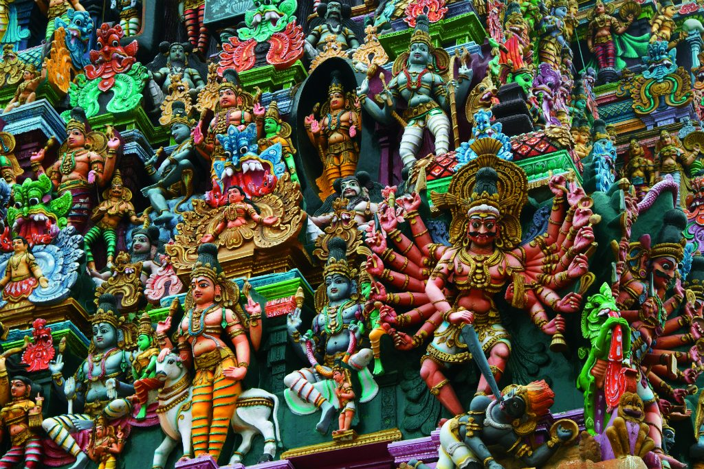 Mythological Deities Meenakshi Amman Temple Madurai